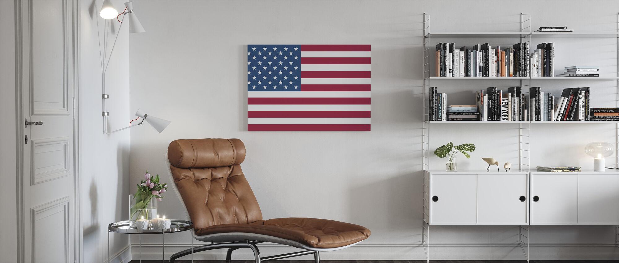 Vlag van Verenigde Staten - Canvas print - Woonkamer