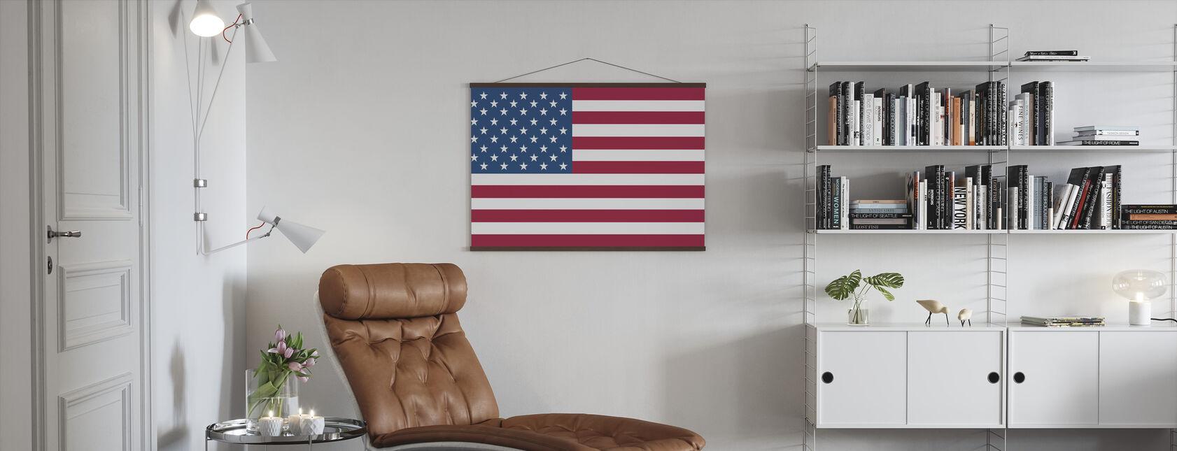 Bandiera degli Stati Uniti - Poster - Salotto