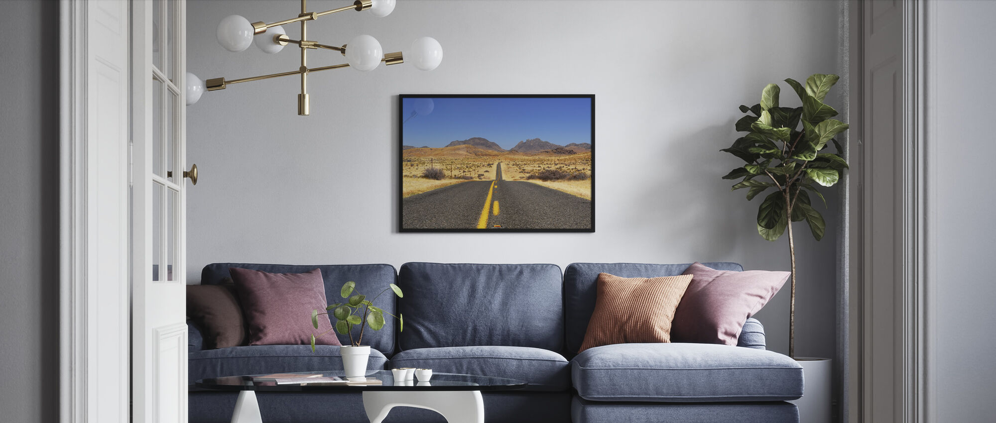 Lost Highway - Framed print - Living Room