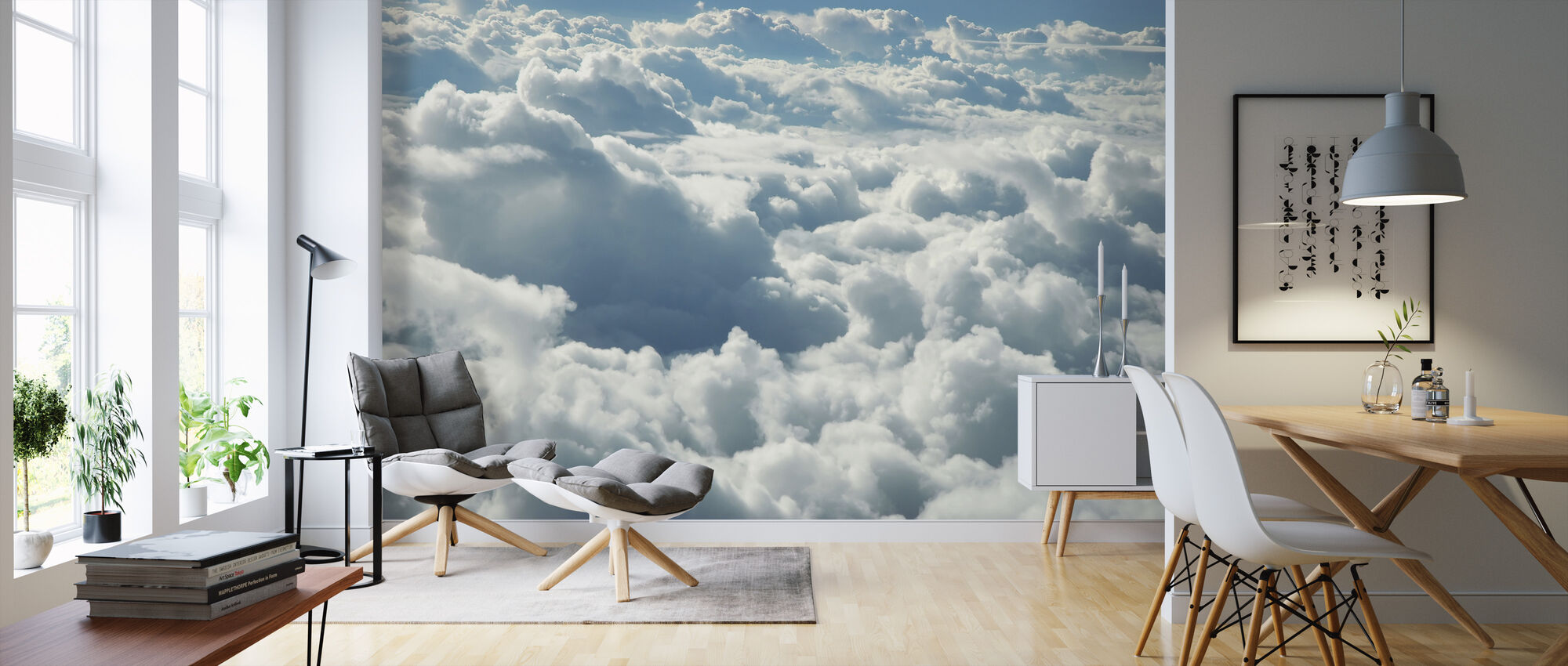 Over Clouds - Wallpaper - Living Room