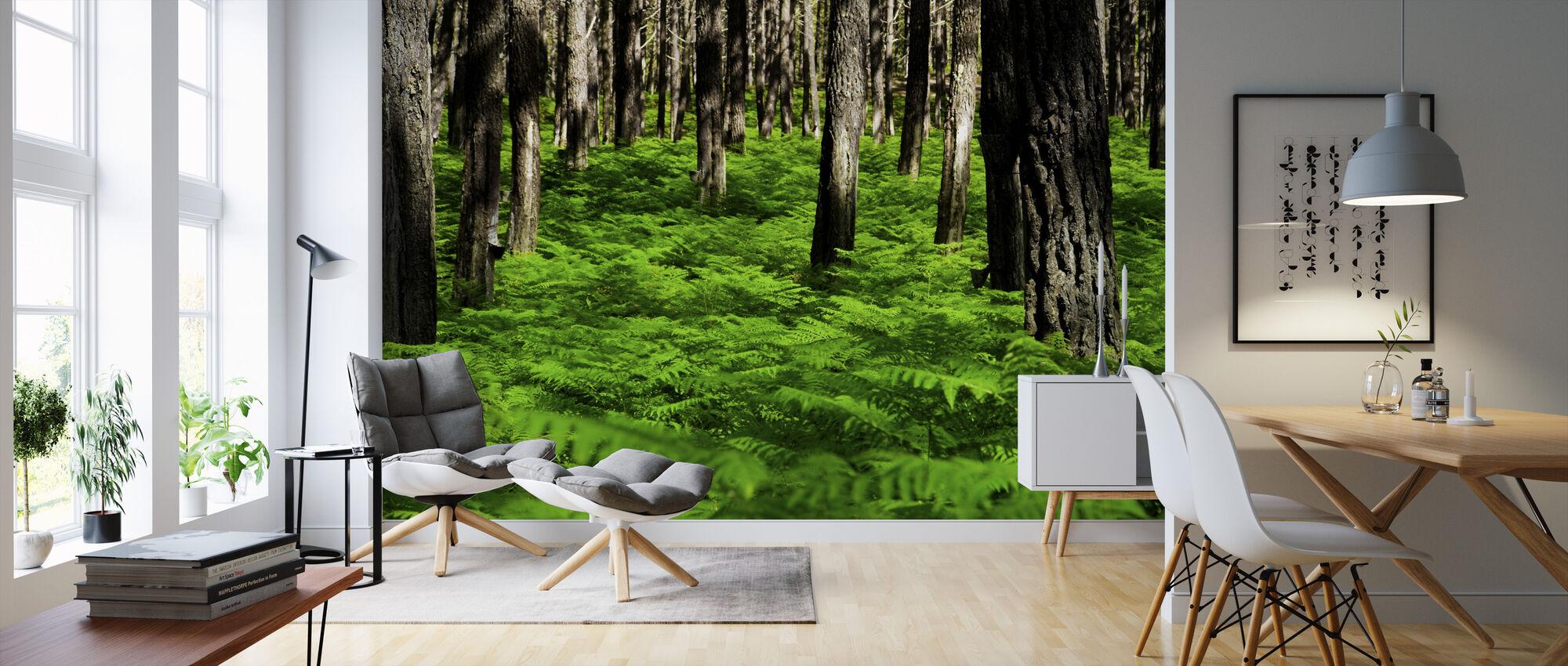 Vihreä Harmony - Tapetti - Olohuone