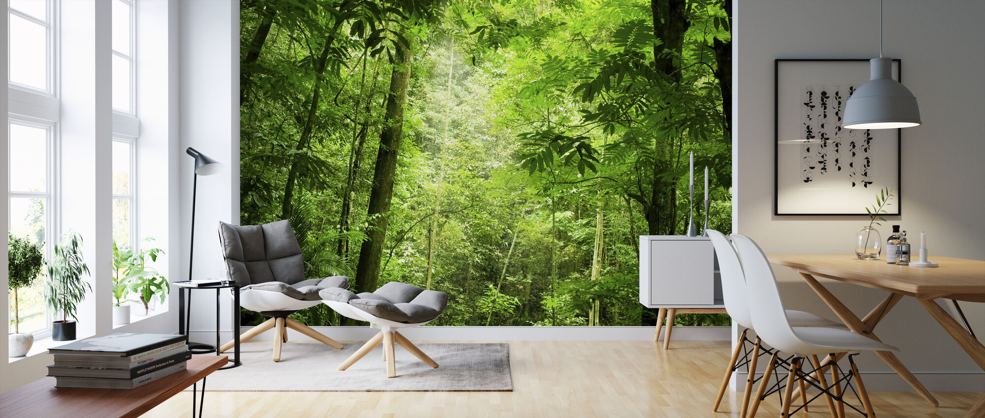 Steamy Forest - Wallpaper - Living Room