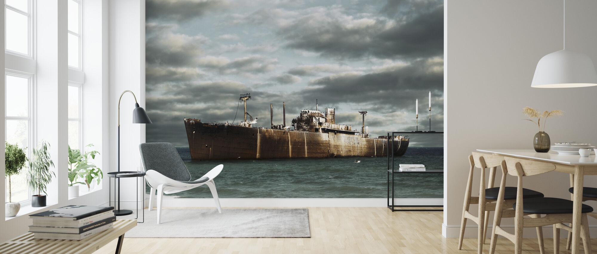 Ship Wreck - Wallpaper - Living Room