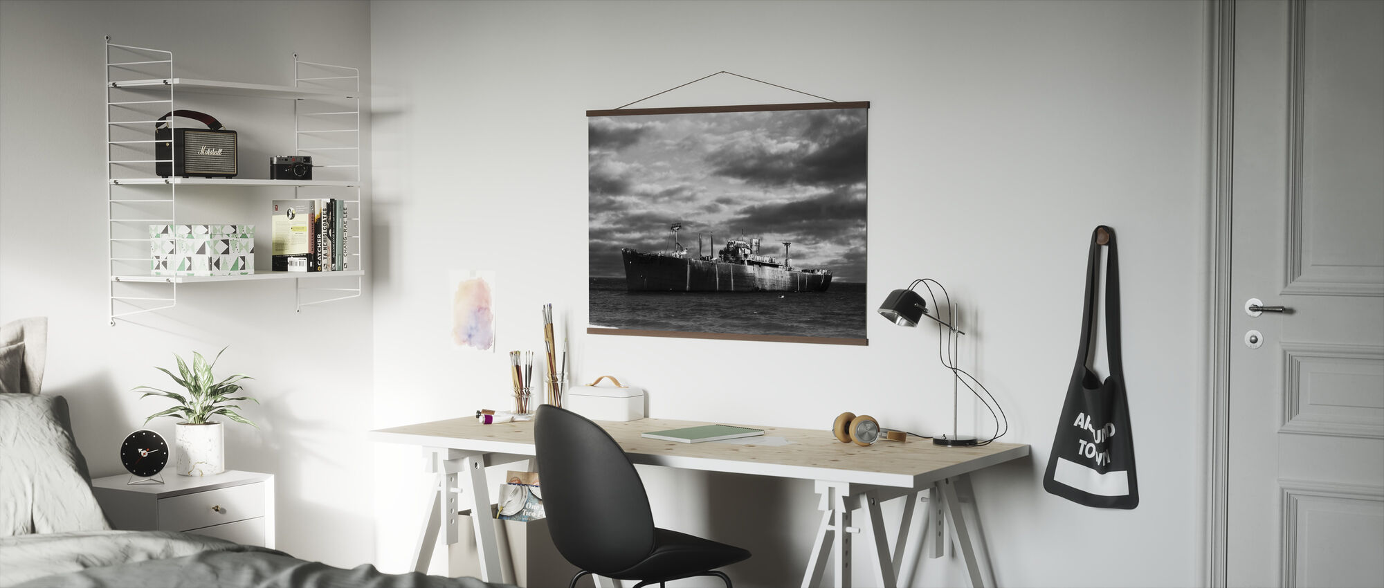 Ship Wreck - b/w - Poster - Office