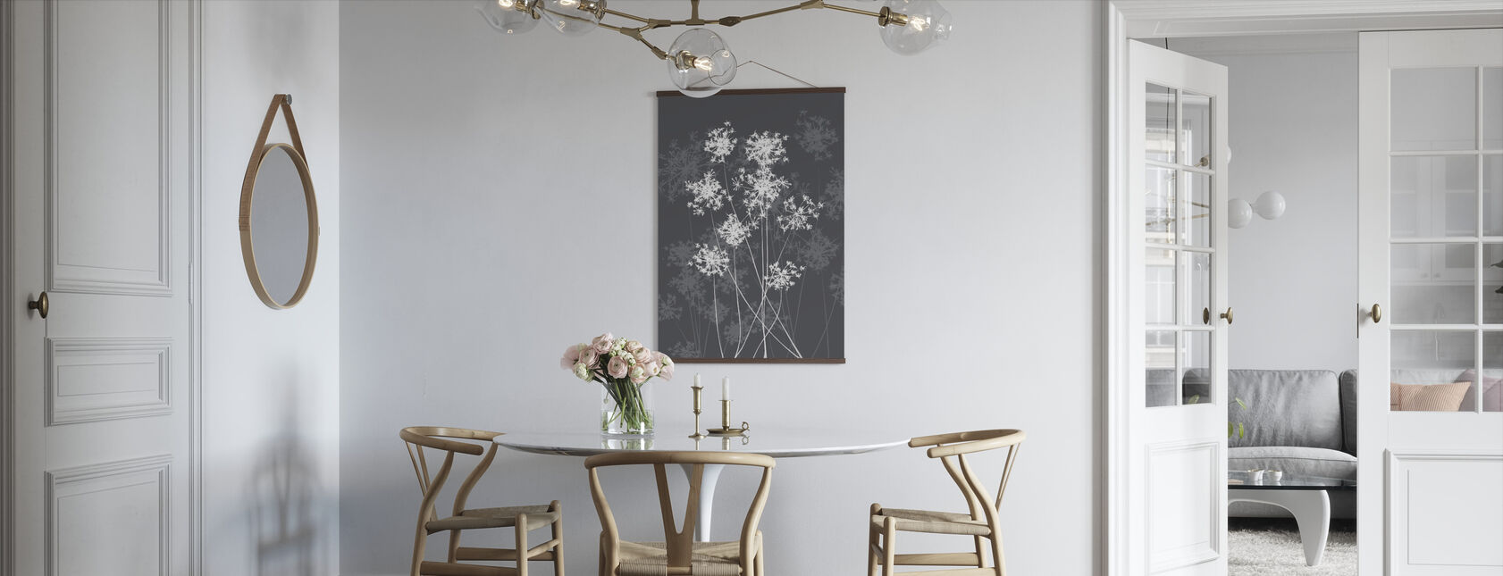 Dandelions - Grey - Poster - Kitchen