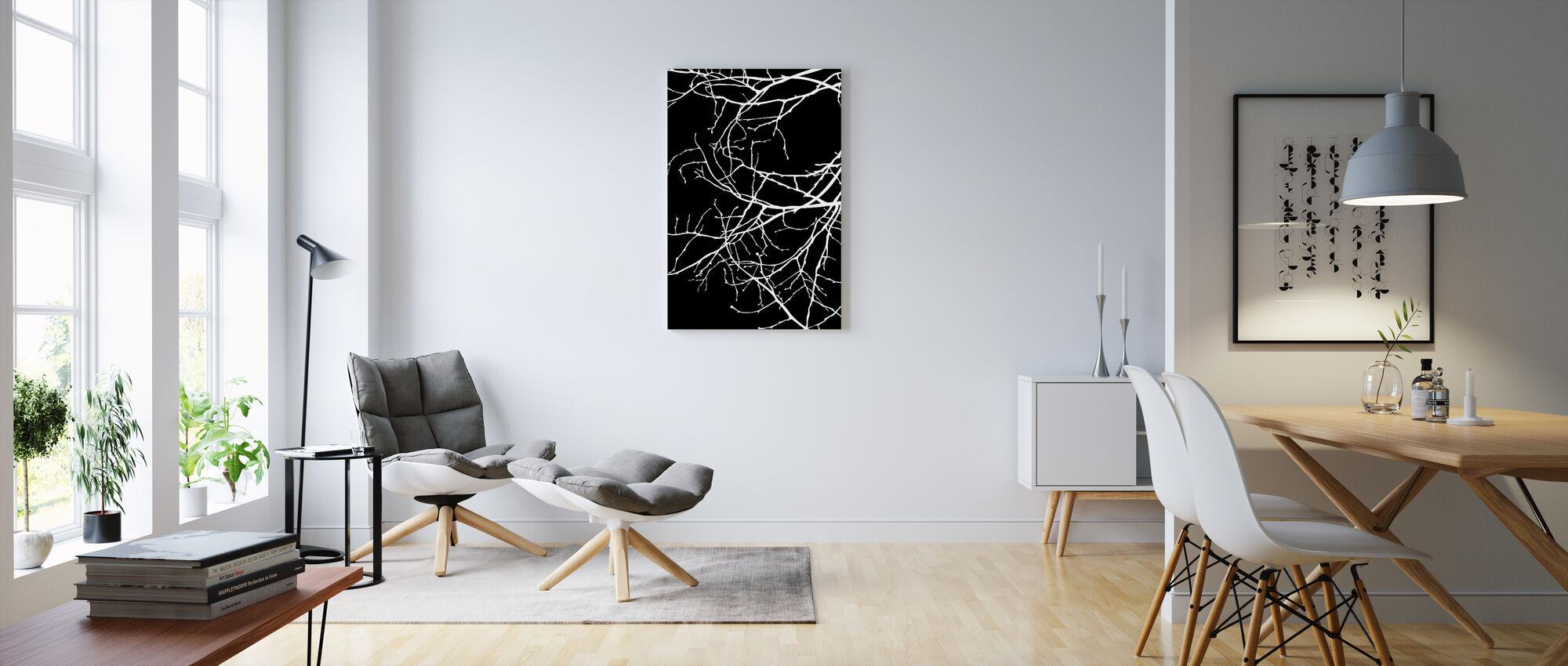 Twiggy - Valkoinen - Canvastaulu - Olohuone