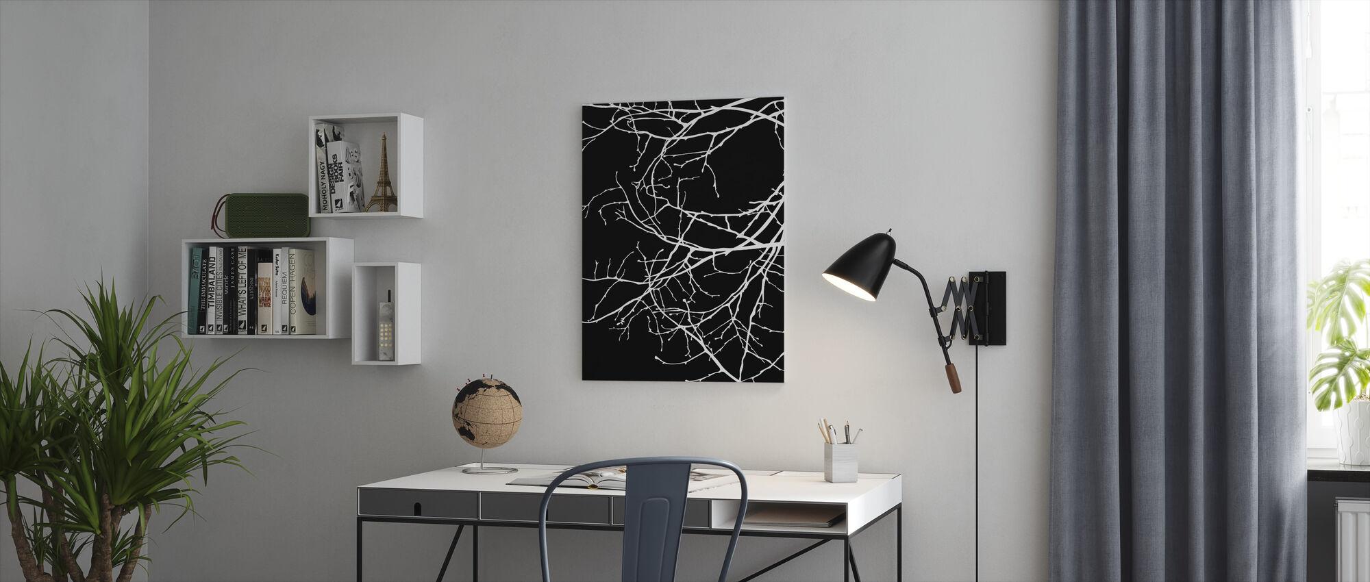 Twiggy - Wit - Canvas print - Kantoor