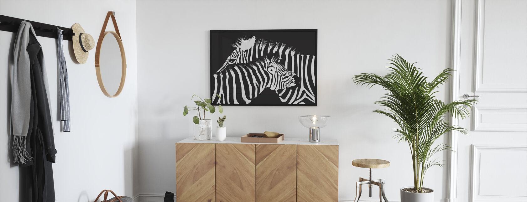 Zebras - Framed print - Hallway