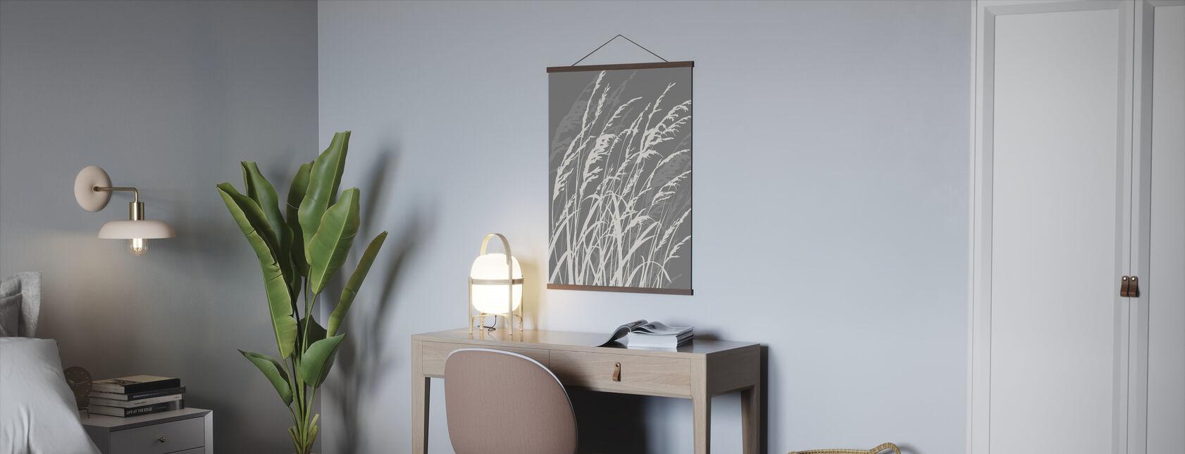 Grass - Grey - Poster - Office