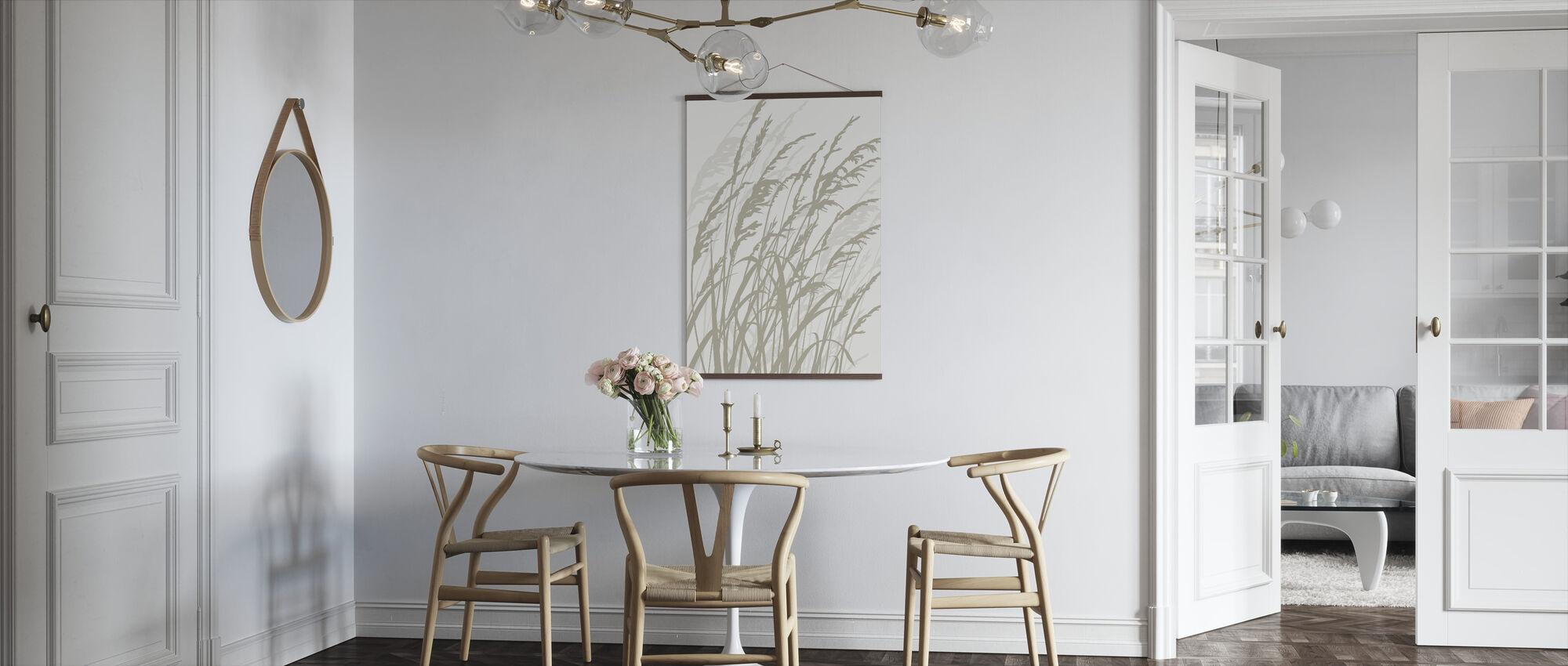 Gras - Weiß - Poster - Küchen