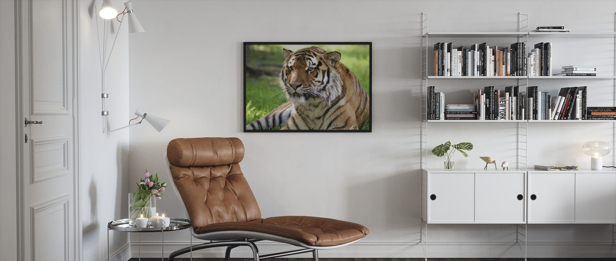 Tiger - Framed print - Living Room
