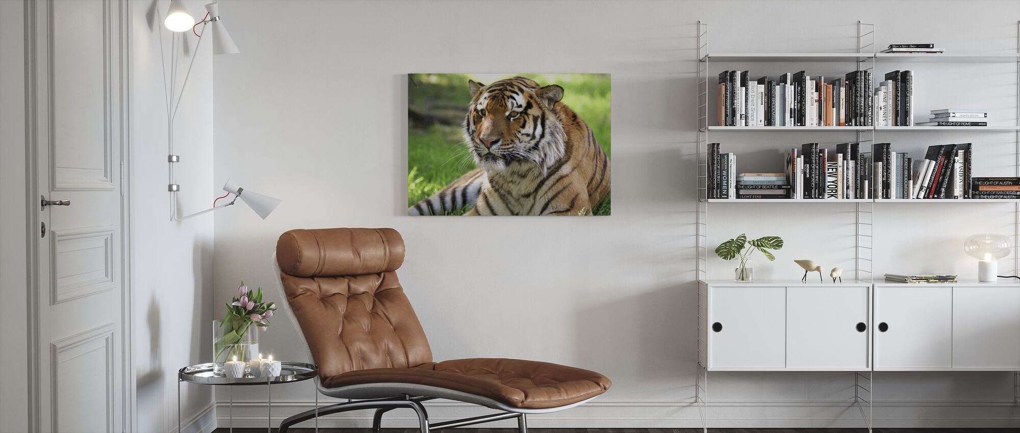 Tijger - Canvas print - Woonkamer
