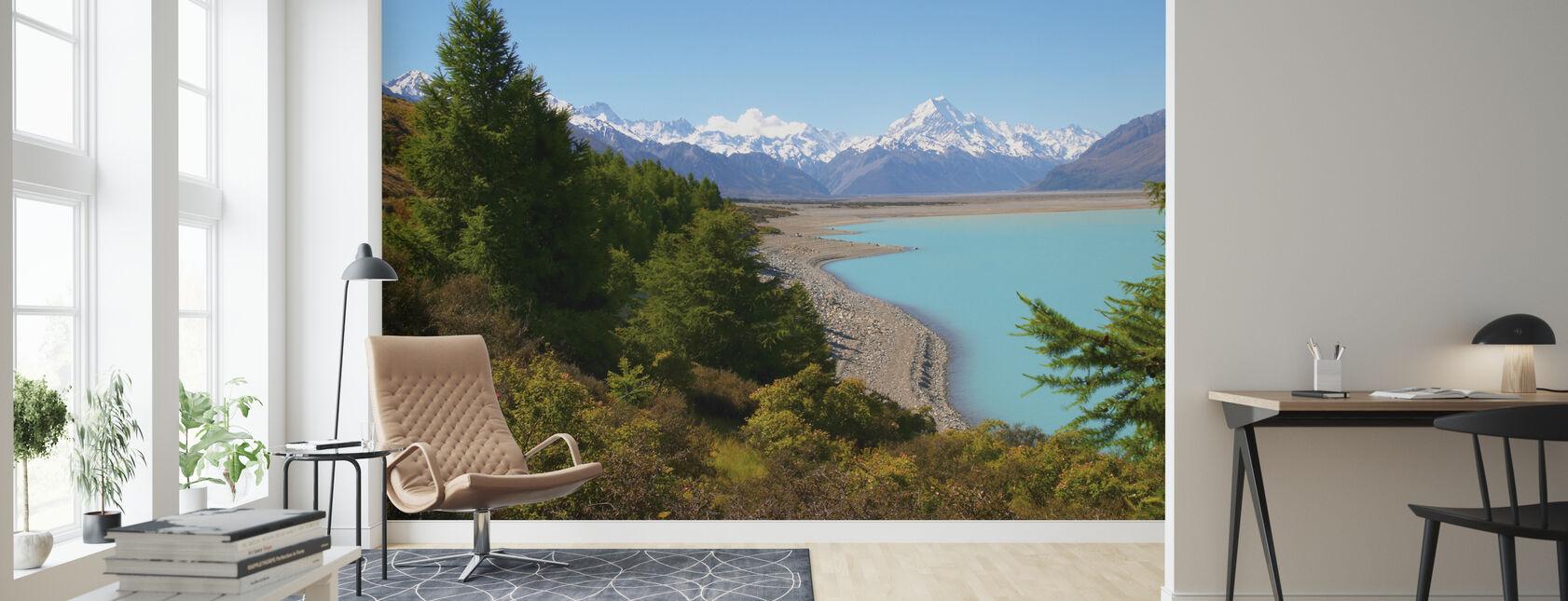 Lake Pukaki - Wallpaper - Living Room