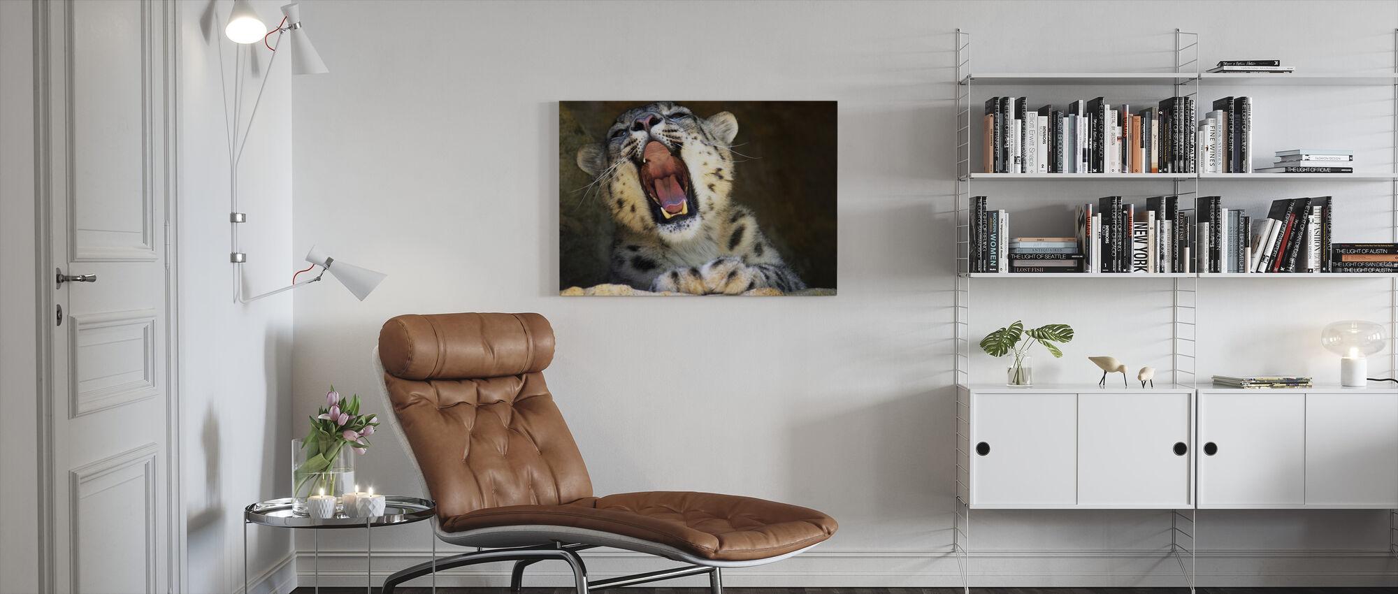 Træt kat - Billede på lærred - Stue