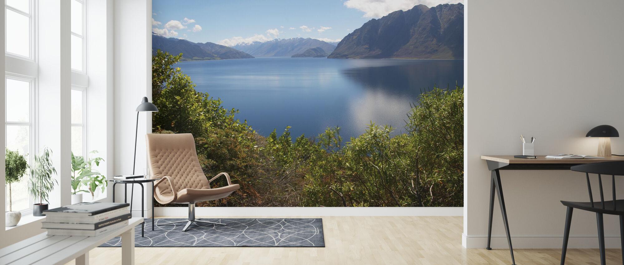 Nz Lake - Wallpaper - Living Room