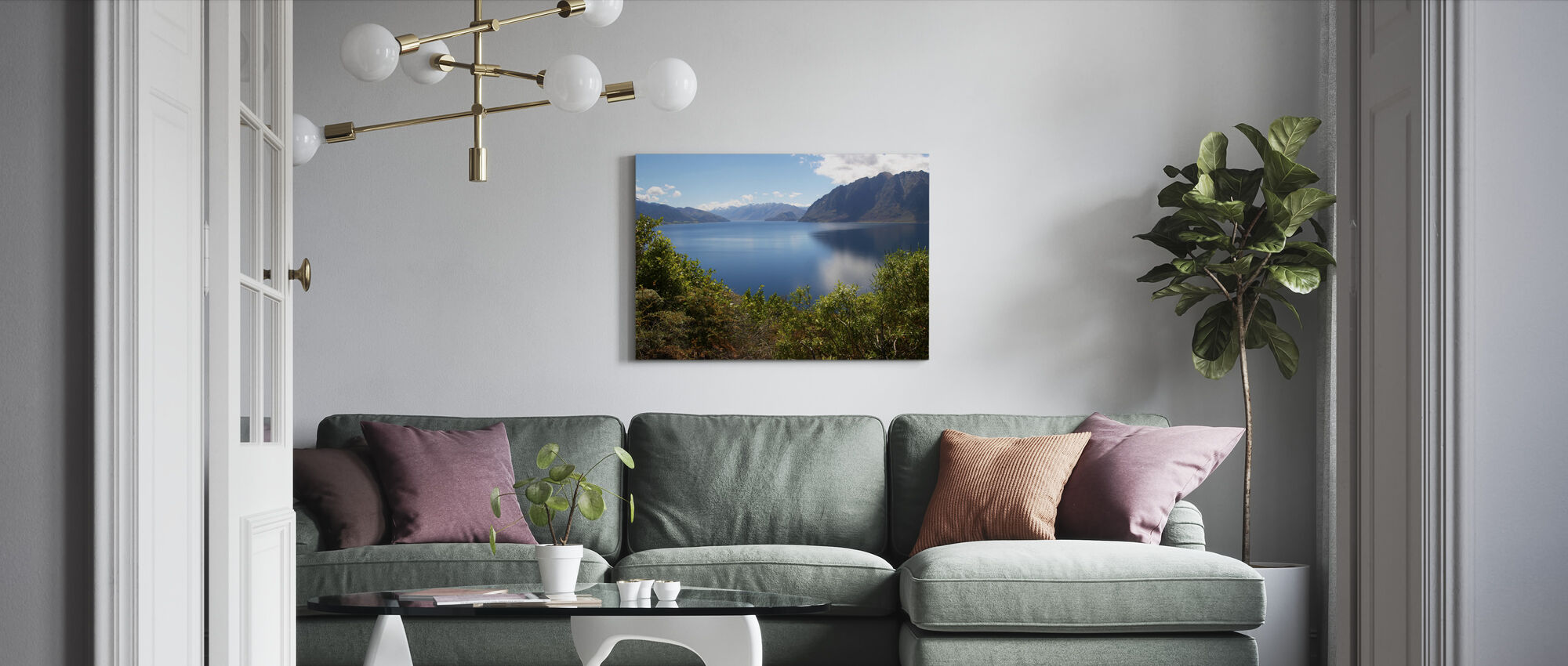 Nz Lake - Canvas print - Living Room