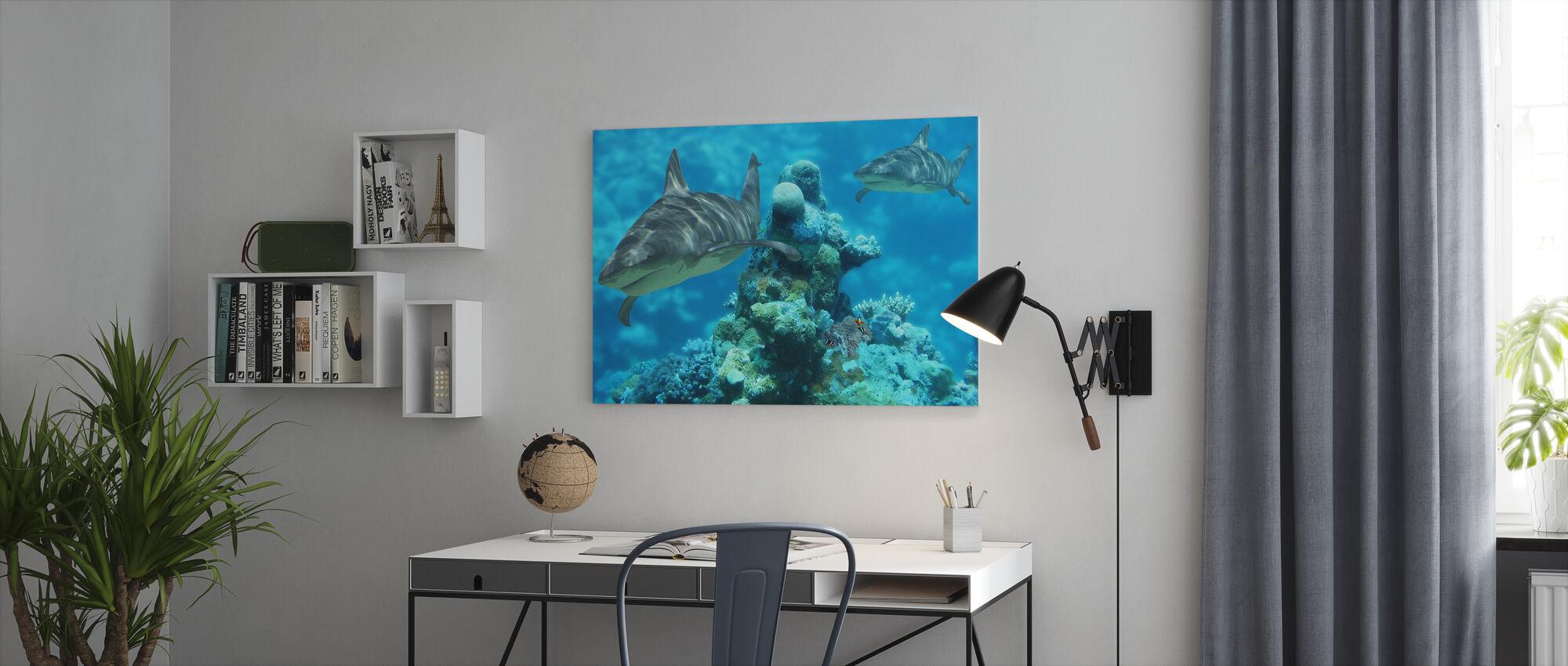 Shark Bommie - Canvas print - Office