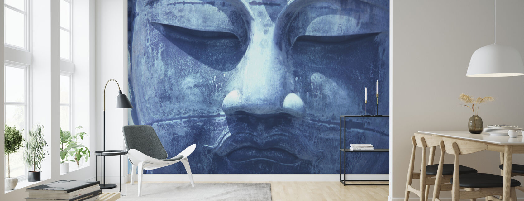 Blue Buddha - Wallpaper - Living Room