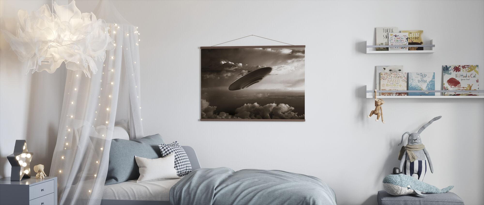 Ufo - Sepia - Poster - Kids Room