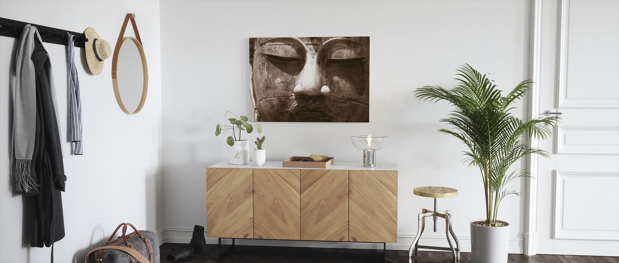 Blue Buddha - Sepia - Canvas print - Hallway
