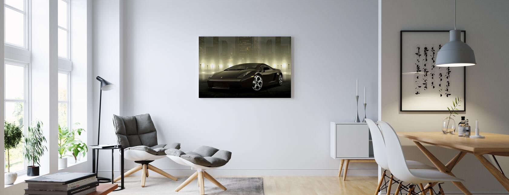 Mørk Lamborghini - Billede på lærred - Stue
