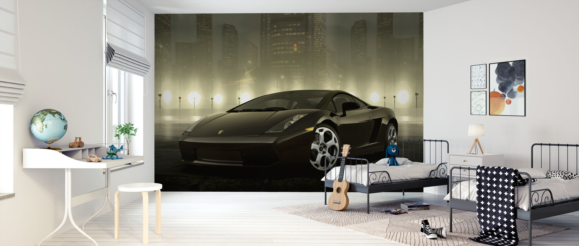 Dark Lamborghini - Wallpaper - Kids Room