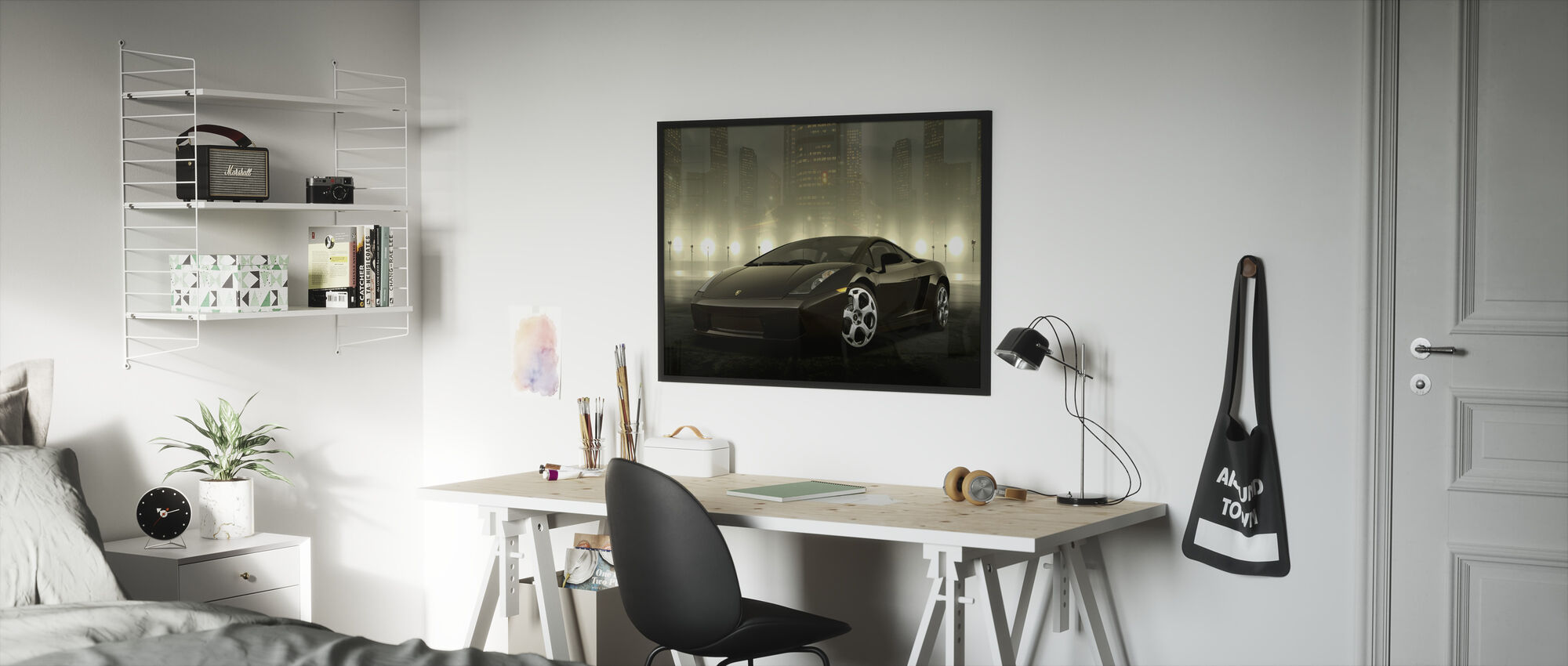 Dark Lamborghini - Framed print - Kids Room