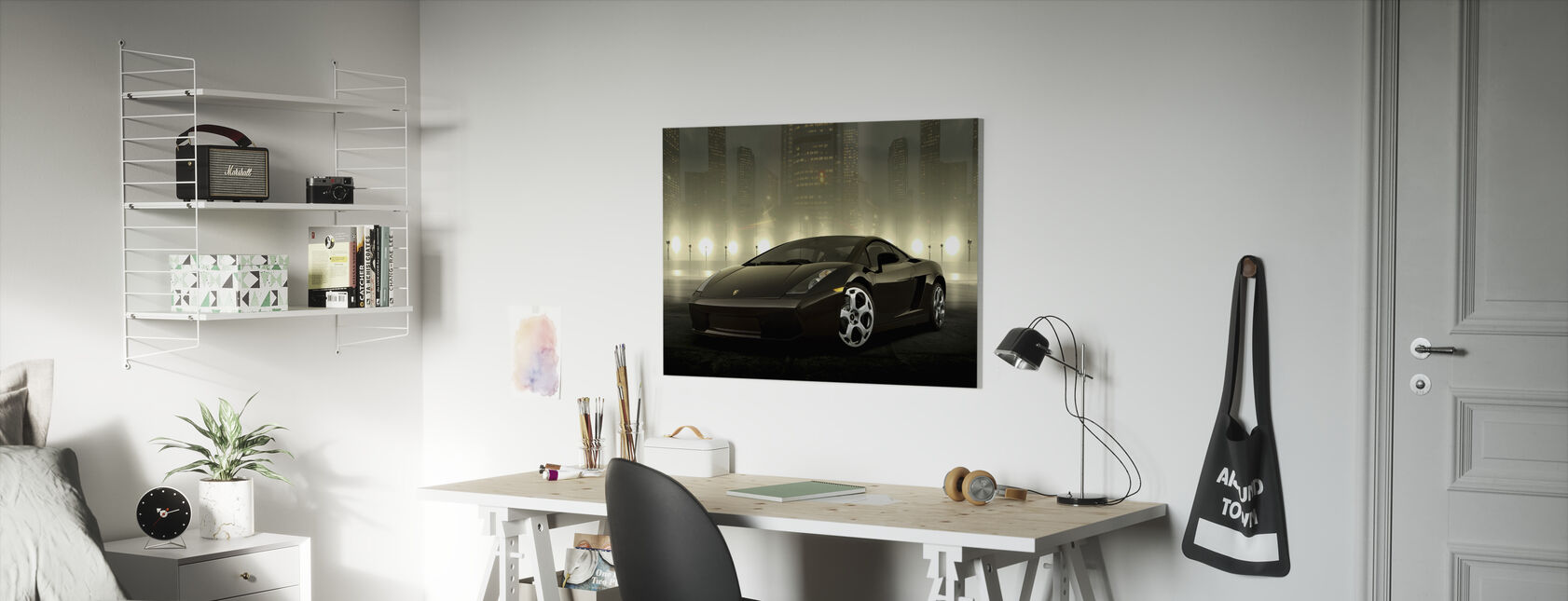 Dark Lamborghini - Canvas print - Kids Room