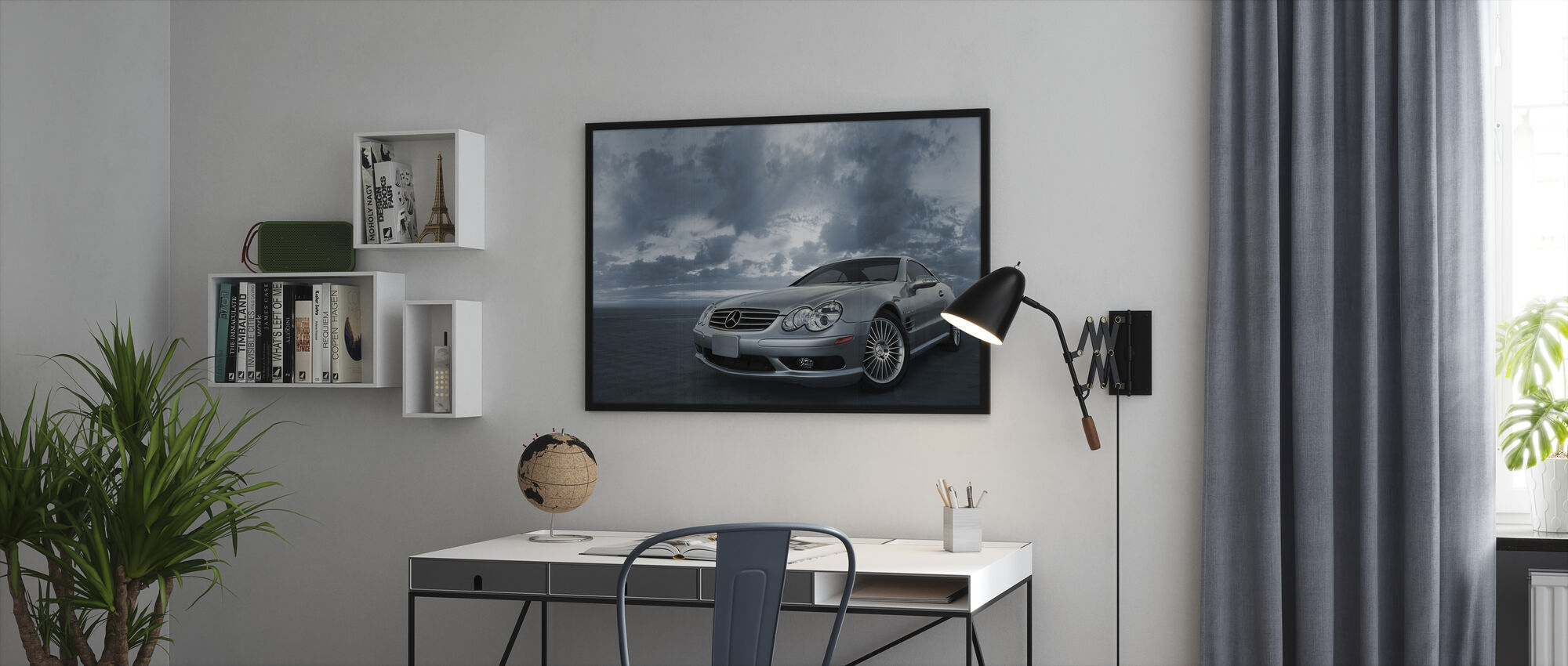 Mercedes-Benz SL55 - Framed print - Office