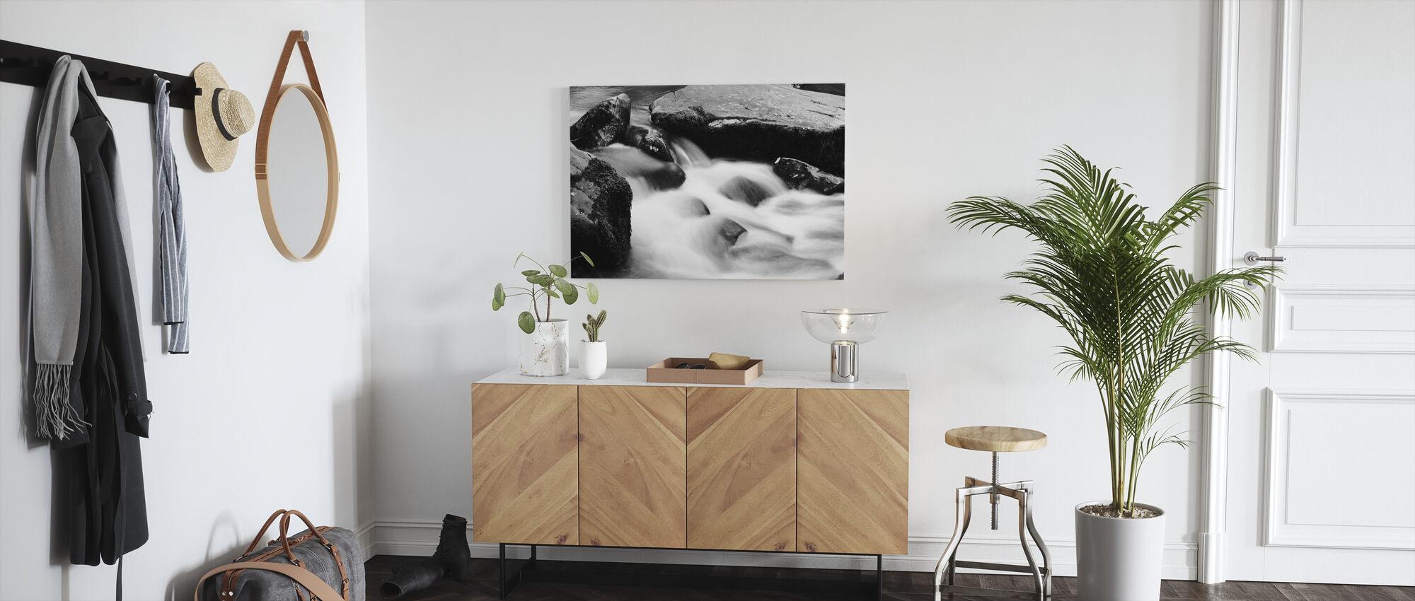 River Mawddach - b/w - Canvas print - Hallway