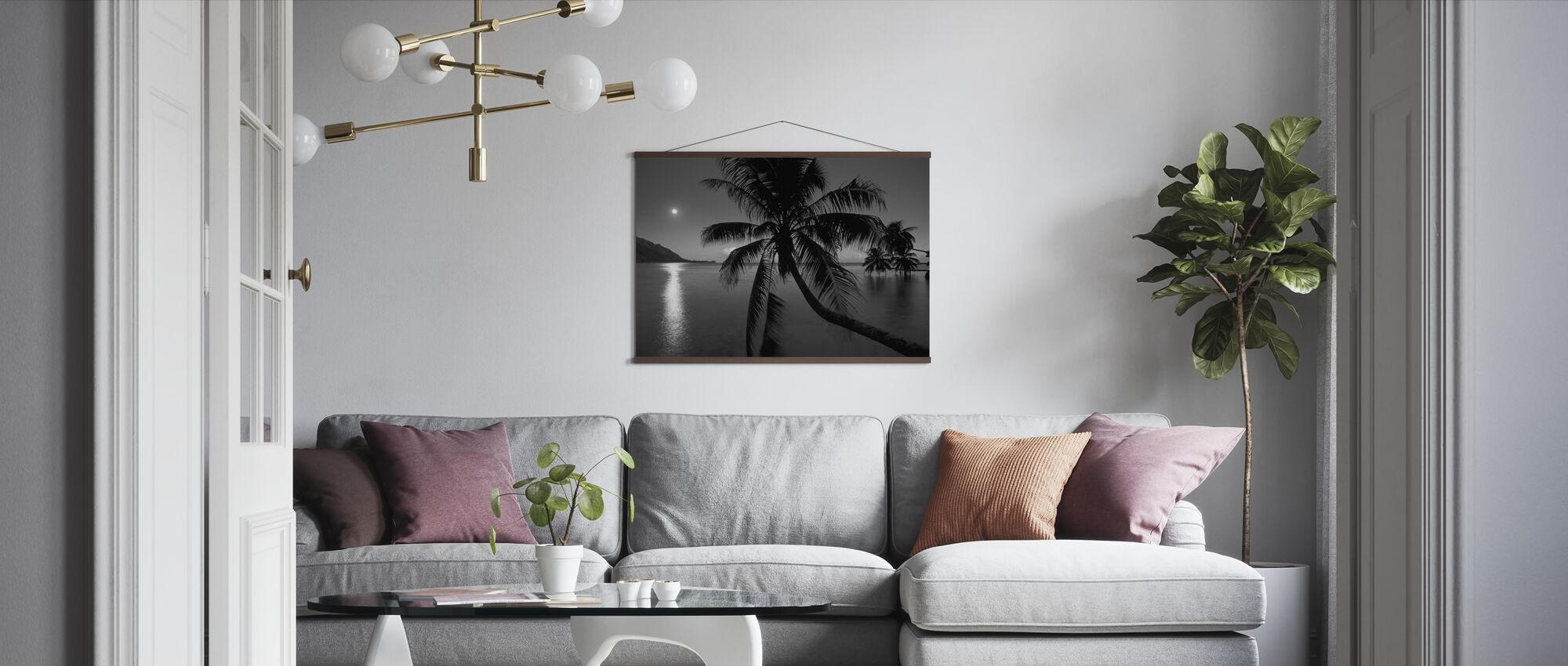 Dream Island - b/w - Poster - Living Room