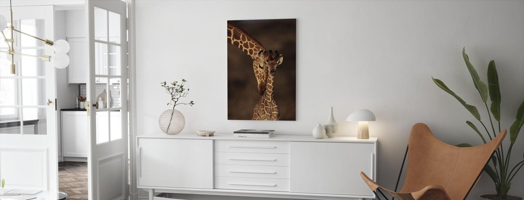 Giraffer - Billede på lærred - Stue