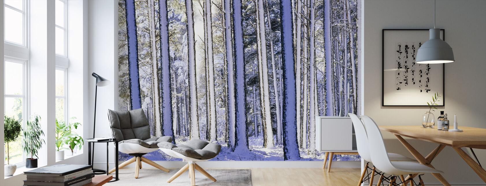 Foresta invernale - Carta da parati - Salotto