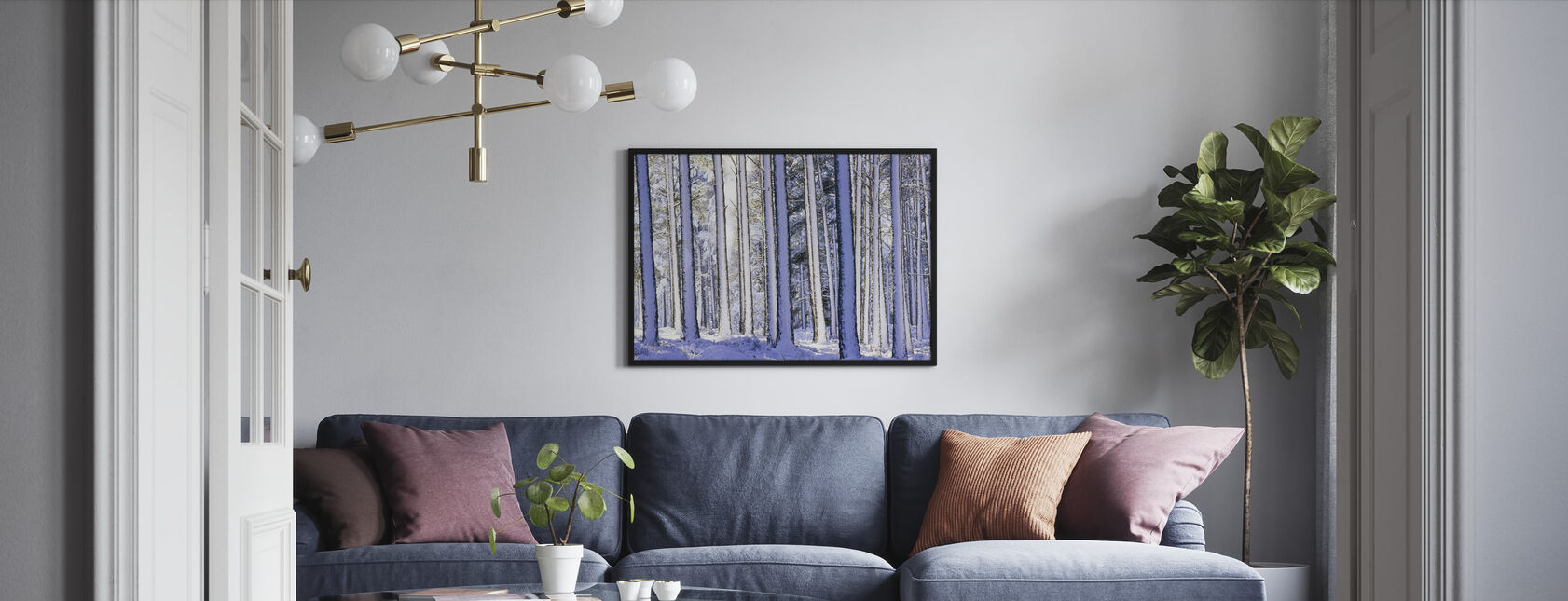 Winter Forest - Framed print - Living Room
