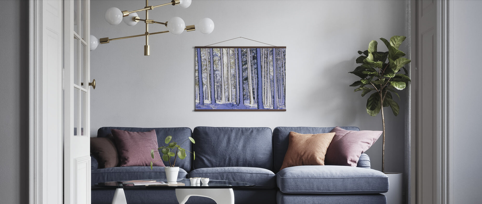 Winter Forest - Poster - Living Room