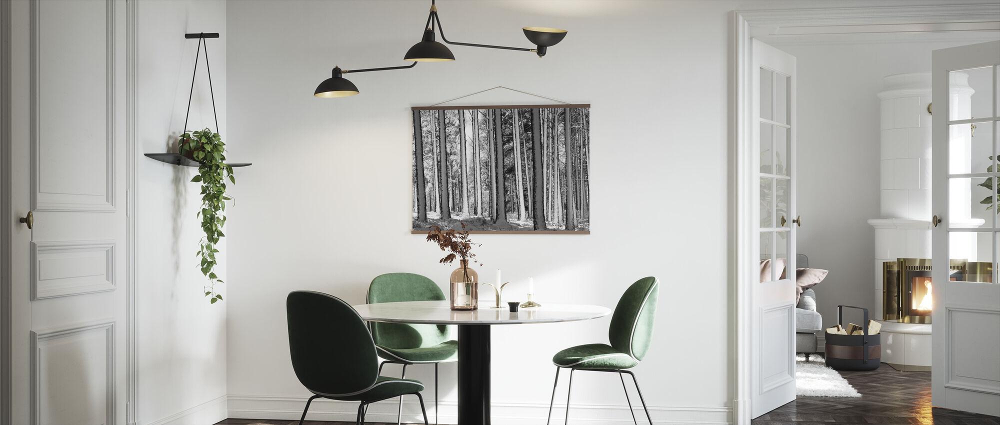 Winter Forest - b/w - Poster - Kitchen