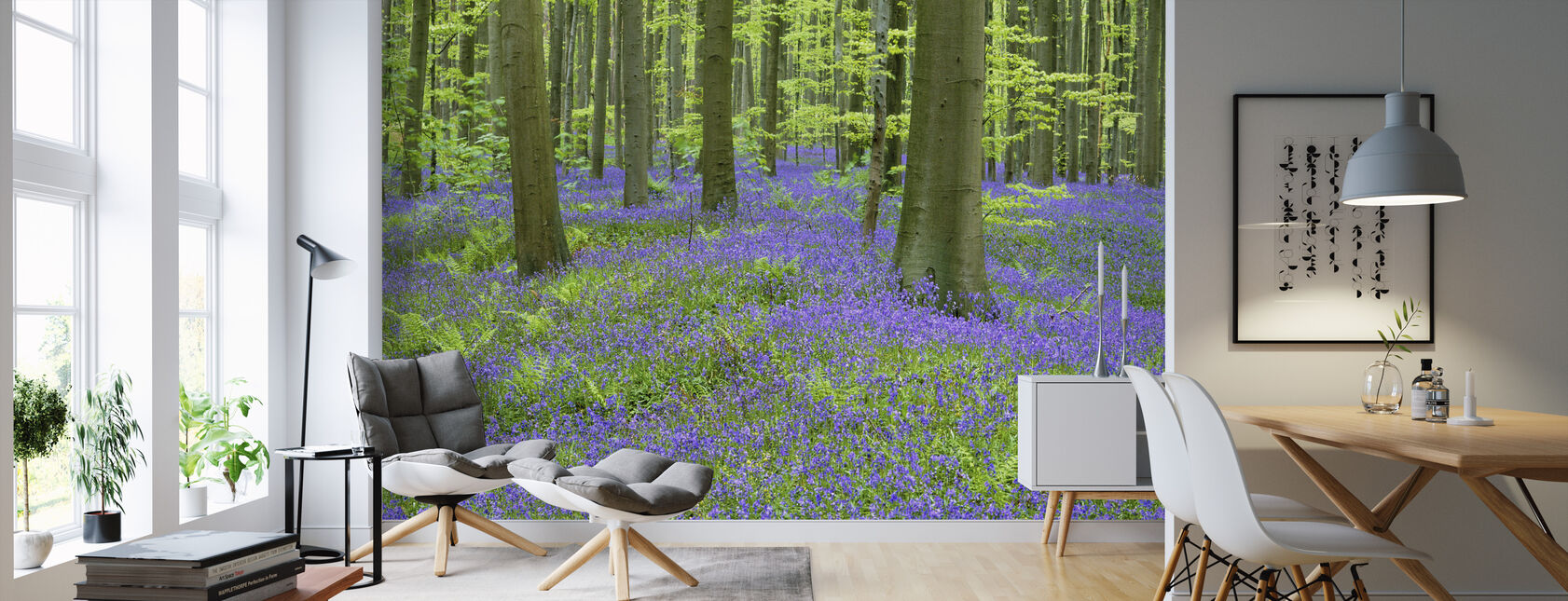 Bluebells Wallpaper - Wallpaper - Living Room