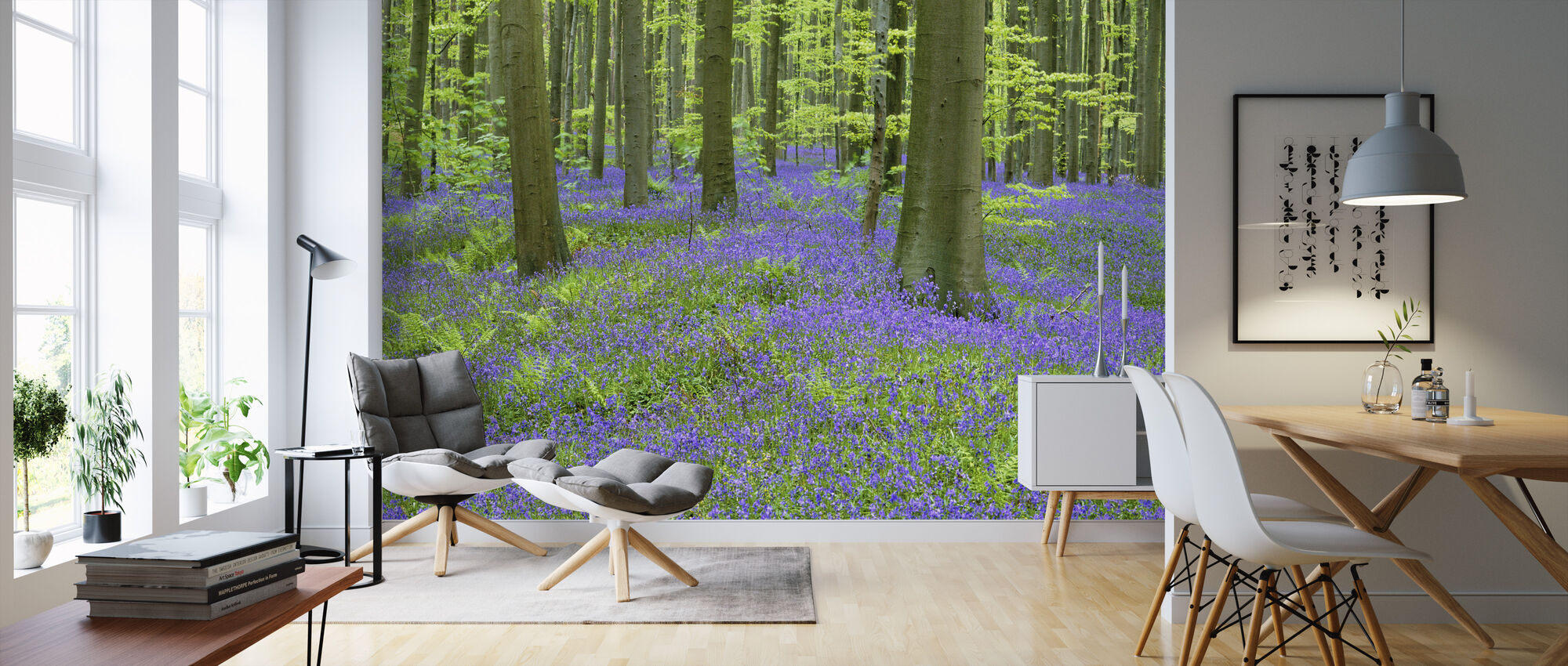 Bluebells Wallpaper - Wallpaper - Living Room