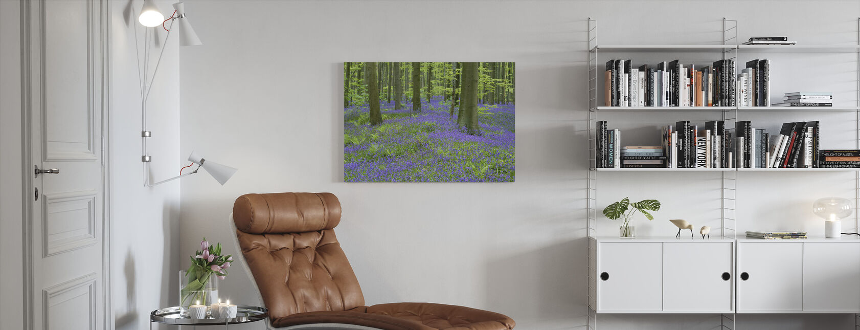 Bluebells Behang - Canvas print - Woonkamer