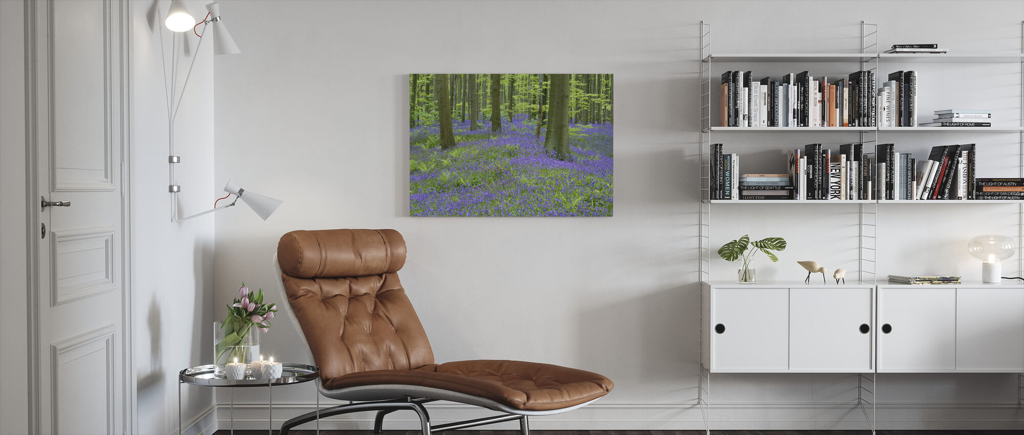 Bluebells Wallpaper - Canvas print - Living Room