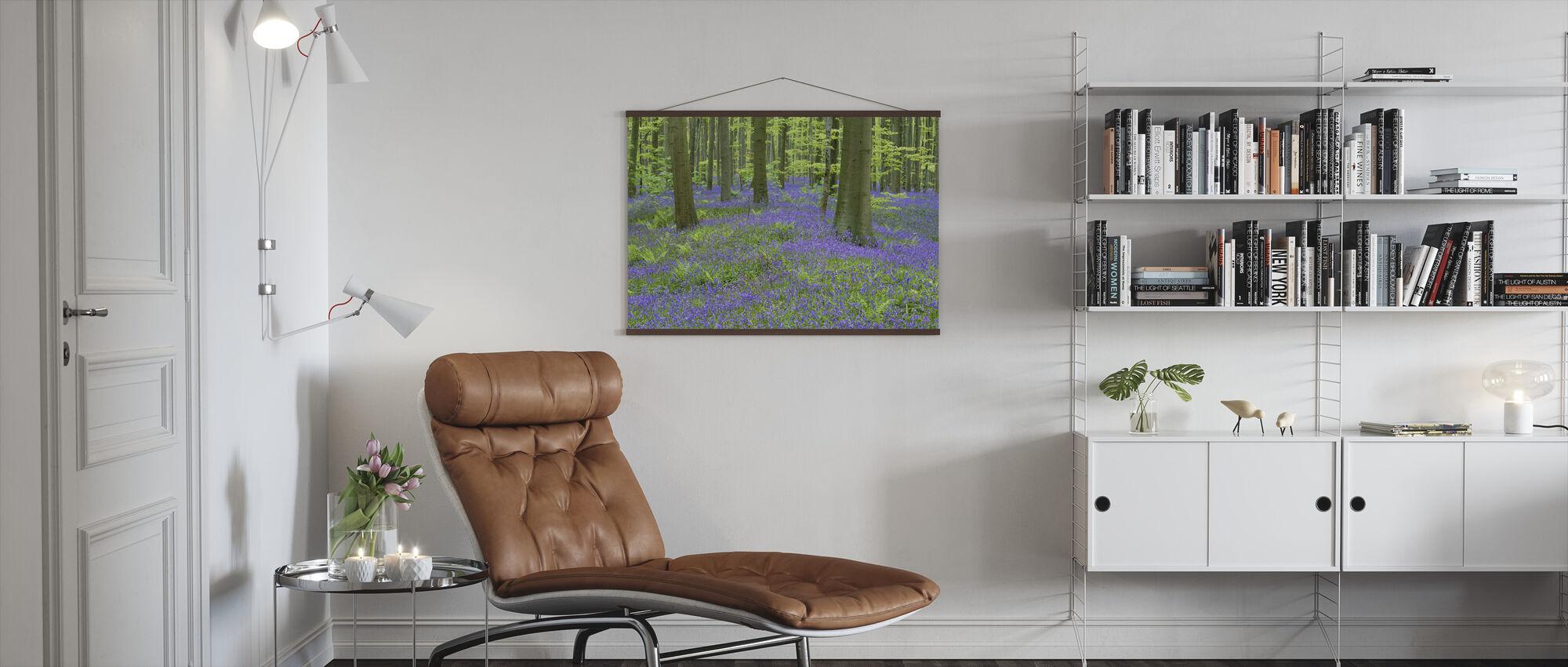 Bluebells Wallpaper - Poster - Living Room
