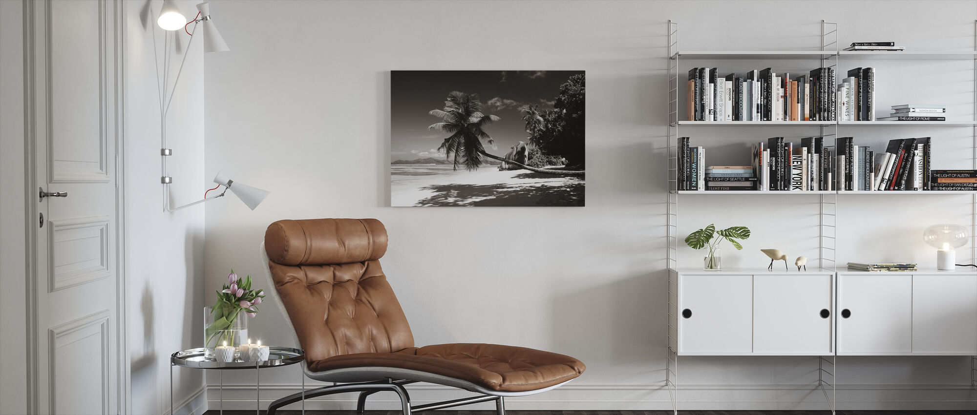 Paradise - Sepia - Canvas print - Living Room