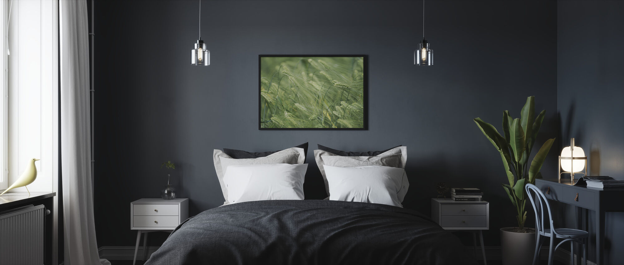 Ohran päät - Kehystetty kuva - Makuuhuone