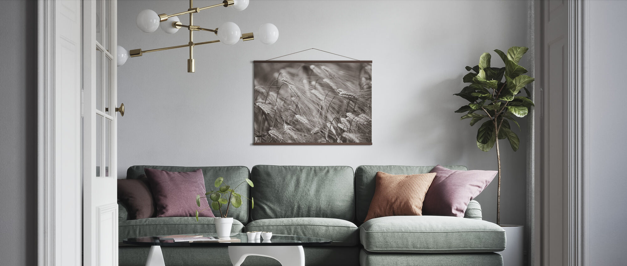 Barley Heads - Sepia - Poster - Living Room