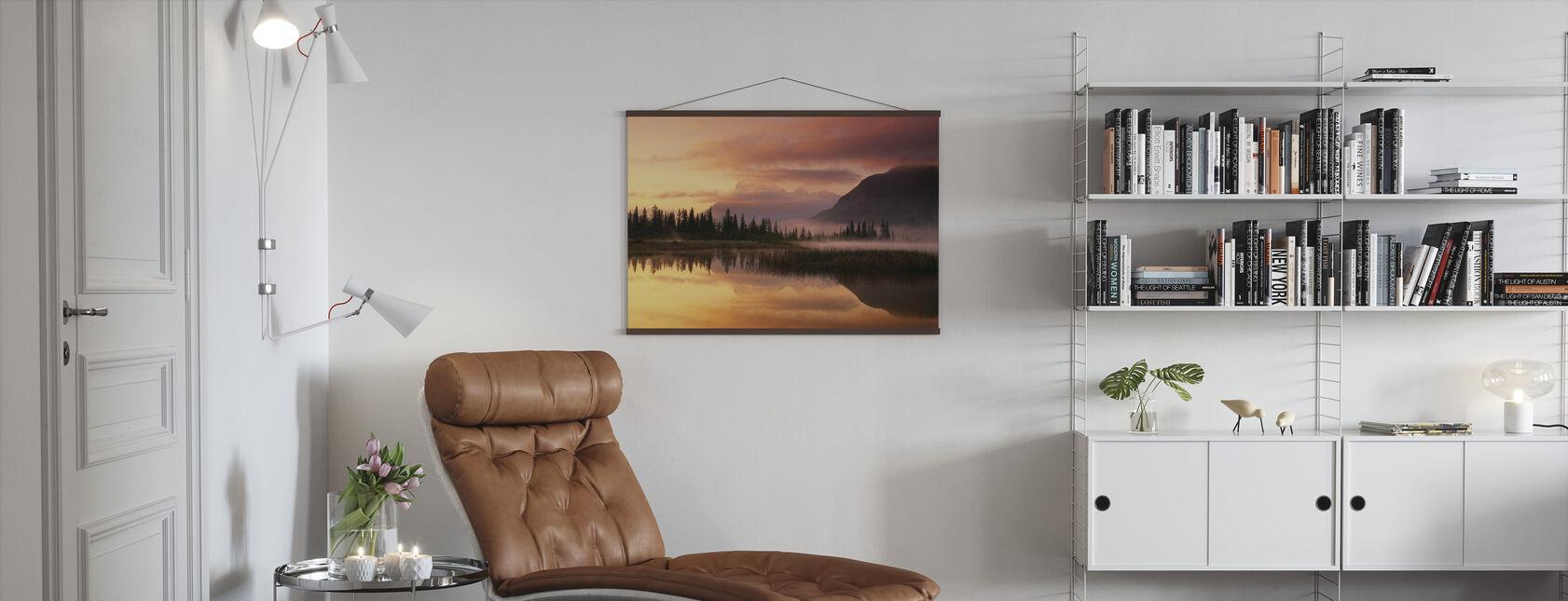 Orange Reflection - Poster - Living Room