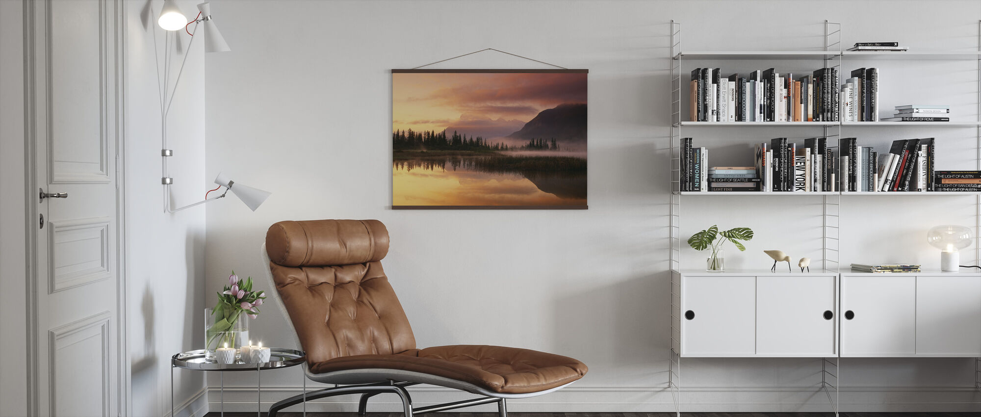 Orange Reflection - Poster - Living Room