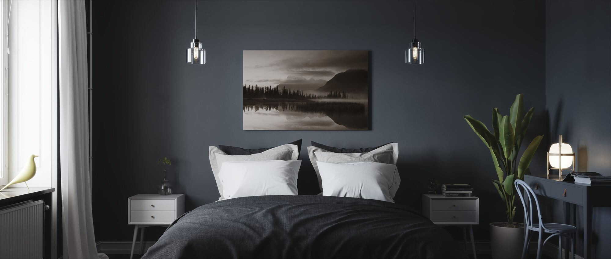 Reflection - Sepia - Canvas print - Bedroom