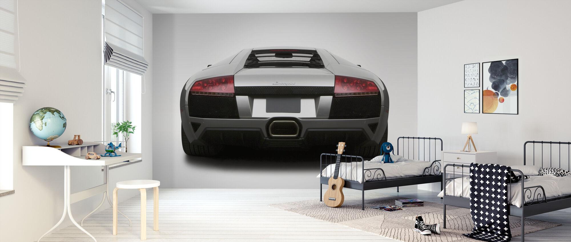 Lamborghini takana - Tapetti - Lastenhuone