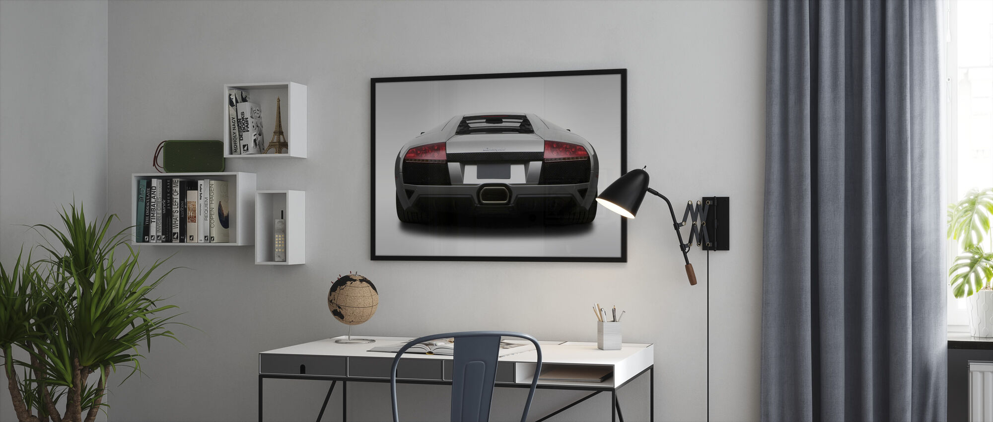 Lamborghini from Behind - Framed print - Office