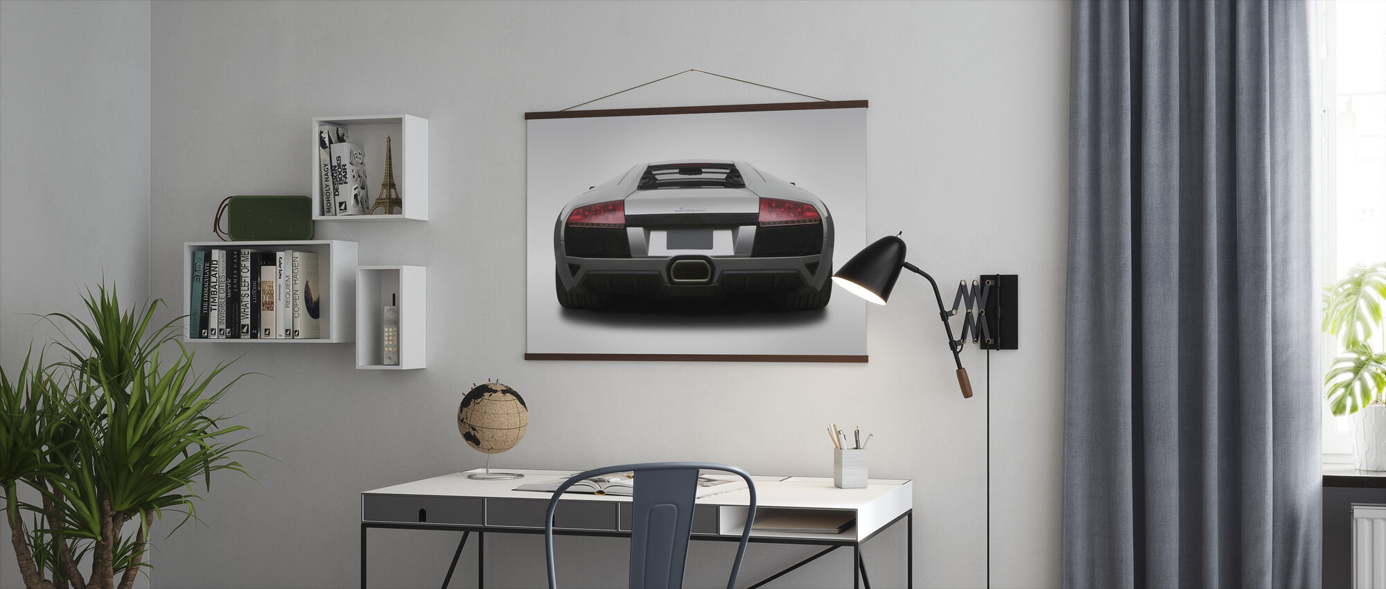 Lamborghini from Behind - Poster - Office